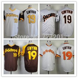Wholesale Men s Women s Children s Cheap Sitched San Diego Padres Tony Gwynn Cool Baseball Jerseys White Brown Size S XXXL Mix order
