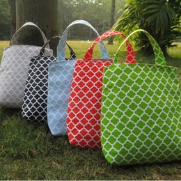 Wholesale Blank Accessories - Quatrefoil Trash Bin Wholesale Blanks Fabric Accessory Holder Tote Kids Travel Bag in 5 colors Free Shipping DOM106126