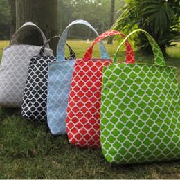 Wholesale Bin Bag Holders - Quatrefoil Trash Bin Wholesale Blanks Fabric Accessory Holder Tote Kids Travel Bag in 5 colors Free Shipping DOM106126