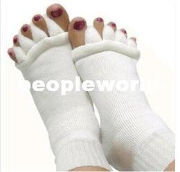 Wholesale Sleeping Hot Massage - 600pairs lot Comfy Toes Sleeping Socks Massage Five Toe Socks Happy Feet Foot Alignment Socks hot!! free shipping