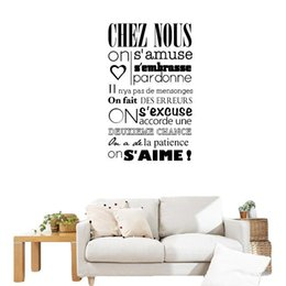 """Wholesale Classical Murals - S5Q """"In This House"""" Of French Versions Wall Stickers Art Decals Home Decorations AAAFHX"""
