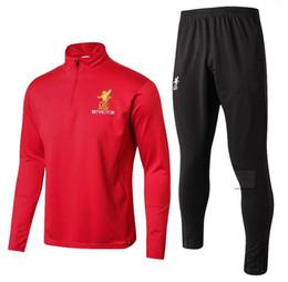 Wholesale Football Gerrard - AAA+quality2017 2018 COUTINHO Football jacket tracksuit 17 18 LALLANA de foot GERRARD MANE FIRMINO HENDERSON jacket Training suit SIZE S-3XL