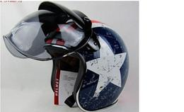 Wholesale Casco Vintage - Wholesale-1pc Common Use Motorcycle Helmet Visor Jet Retro Hallar Casco Mask Vintage Helmet Bubble Visor Lens Helmet Accessories