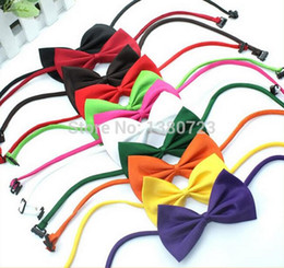 Wholesale Colorful Bow Tie - 600pcs lot Factory Sale New Colorful Handmade Adjustable Dog Pet Tie butterfly Bow Ties Cat Neckties Dog Grooming Supplies