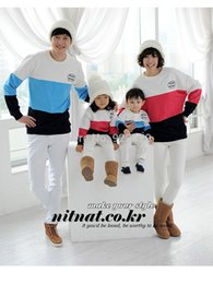 Wholesale Family Hoodies - Wholesale-2015 Autumn family matching clothes mom daughter matching hoodies