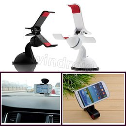 Wholesale Note Windshield - Universal Windshield 360 Degree Rotating cell phone Car Mount Holder for iPhone 6 Samsung Note GPS tablet with retail package 30pcs