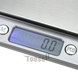 Wholesale Digital Scale Balance Pocket - 2000g x 0.1g Digital Pocket Scale Jewelry Weight Electronic Balance Scale g  oz  ct  gn Precision free shipping