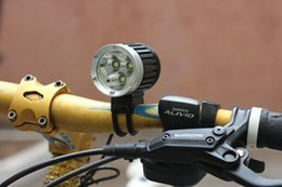 Wholesale Cree Bicycle Lighting - low price 3800 Lumen CREE XM-L 3*T6 LED Bike Bicycle Light LED Light HeadLight+ Battery 6400mah & Charger