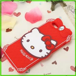 Wholesale Diamond Rhinestone Iphone5 Case - For Iphone5 6 Cell Phone Cases 3D Cartoon Iphone 6plus Cute Hello kitty Diamond Soft Silicone Mobile Cells Case Lovely Animal Stereo Cover