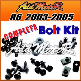 Wholesale R6 Body Kits - Addmotor 151 Pieces Set Black Complete Fairing Bolt Kit Body Screws Fasteners For Yamaha YZFR6 2003-2005 YZF R6 03-05 Y64S