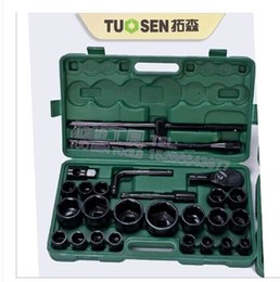 Wholesale Pulling Tires - Wholesale-Heavy socket set 26 sets of 60 cents a black pneumatic sleeve combination package car pull large truck tires