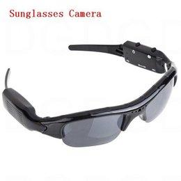 Wholesale Dv Dvr Sun Glasses Camera - Sunglasses DVR Audio Video Recorder Mini DV DVR wireless Sun glasses Camera