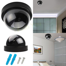 Wholesale 2015 Top Selling Lifelike Fake Dummy LED Dome CCTV Security Surveillance Cameras for House Store etc With Red Flashing Light
