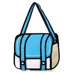Wholesale Medium Camera Bag - 30pcs lot Free shipping 3d three-dimensional bags cartoon comic Jump Style one shoulder messenger camera bag female bags