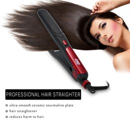 Wholesale Electronic Hair Straightener - Professional Electronic Hair Straightener Portable Straightener Irons Ceramic Flat Straightening Curling Styling Tools EU Plug W2324
