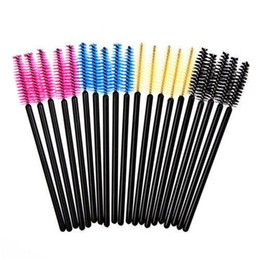Wholesale Hot Brush Hair Care - Hot 50 pcs One-Off Disposable Eyelash Brush Mascara Applicator Wand makeup Brushes eyes care make up styling tools Free Shipping