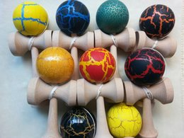 Wholesale Sword Child - 25cm 8cm jumbo Crack Kendama Sword Jade Fully Painted Kendamas Ball Japanese Traditional Wooden gifts Toy For Adult Gift For Children