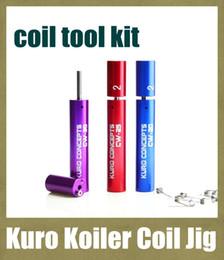 Outil de bobinage kuro en Ligne-kuro bobine enrouleur de bobine pour e Cigarette RDA RBA Outil de bobinage de fil Atomiseur Outil de bobine Emballage Coiler revolver tobeco bobine gabarit FJ061