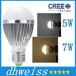 Wholesale E27 Sound - LED Bulbs AC85-265V Lamps LED E27 motion sensor light 5W 7W auto Detection bulb Sound with Light sensor Lamp Tubes+CE ROHS