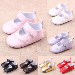 Wholesale Comfortable China Shoes - Baby Shoes Baby Shoes Size 2 Comfortable Soft And Anti-Slip Flower Printed Six Colors Girls Shoes Baby Shoes China