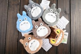 Wholesale Totoro Black Soft Toy - Wholesale-Wholesale 50 pcs lot Anime My neighbor Totoro & Spirited Away Soft Plush Doll Figure Coins bags, wallets, Key cases Girls Toy