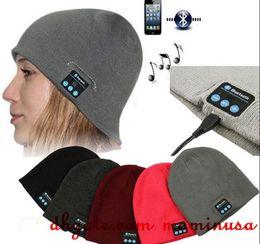 Wholesale Smart Casual Men Winter - New To Hot Men Women Soft Winter Beanie Hats Wireless Bluetooth Smart Cap Headphone Headset Speaker Mic Headgear Knitted Cap More Colour