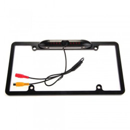 Wholesale Tv Roof Mounts - US License Plate Frame Mount Waterproof Night Vision Car Rear View Camera Black
