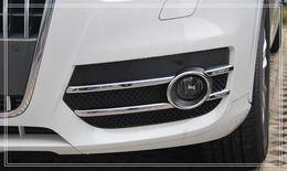 Wholesale Audi Chrome Fog - Free shipping! High quality ABS chrome front fog lamp cover,fog light trim FOR AUDI Q3 2013