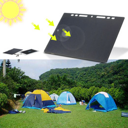 Wholesale Mini Solar Panel Usb - 10W High Power Paper Shaped Mini Portable Monocrystalline Silicon Solar Panel Charger USB Port for Camping Travel Outdoor