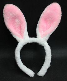 Wholesale Fancy Prom - Halloween Cosplay Accessories Kawaii Bunny Ears Headbands Lovely Long Rabbit Ear Headbands Fancy Prom Party Jewelry for adults children M26
