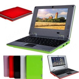 Wholesale Mini Netbook Android - Mini laptop for Kids Students netbook VIA8880 Dual Core Android 4.2 OS HDMI Camera 8GB HDD 5colors available 4GB 8GB