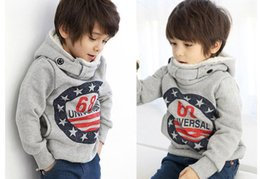Wholesale Cashmere Baby Sweater - Free Shipping fashion Toddler Infant Cashmere Baby Kids Children Tops Kids Warm sweatshirt Hooded sweater No. 68 Outfit 100-140