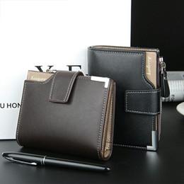Wholesale Black Portfolio - Fashion Brand wallet Men leather pocket Short Wallet zipper coin portfolio Handy luxury wallet 3 Fold Male Purse Cards wallets
