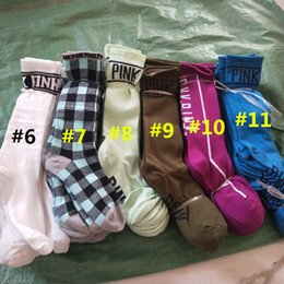 Wholesale Pink Knee High Socks - Women Girls Pink Knee High Long Socks Sports Cheerleaders Socks Sports Football Skateboard Winter Stockings for Ladies