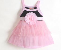 Wholesale Big Dresses For Girls - Big Flower Tutu Dress Baby Princess Dress Babys Girls Sleeveless Summer Dress For 0~2T Baby Girl Good Quality