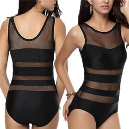 Wholesale One Pieces Monokinis - New Brand Fashion Sexy Lady Lace Swimsuit Bandage Swimwear Women Mesh Bathing Suits Beach Wear Monokinis One Piece
