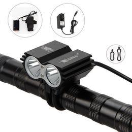 Wholesale Cree Solarstorm Light - SolarStorm 5000 Lumen 2x CREE T6 LED Front Bicycle Light Bike Headlamp Headlight