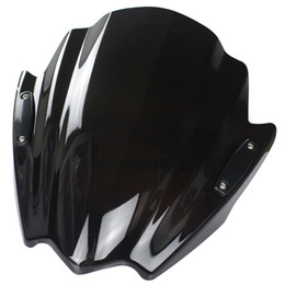 Wholesale Streetfighter Bike - Motorcycle Street Bike Windshield WindScreen For Ducati Diavel Carbon AMG Strada Streetfighter 848 Hypermotard 1100 EVO SP Black