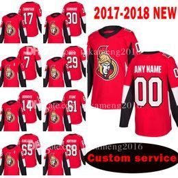 Camisa oduya on-line-Custom 2018 Novo Ottawa Senators 17 Nate Thompson 30 Andrew Hammond Jersey 7 Kyle Turris 29 Johnny Oduya 14 Alexandre Burrows Camisolas de Hóquei