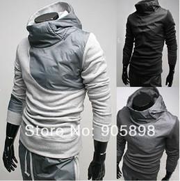 Wholesale Korea Monde Shirt - Fall-2015 new monde South Korea Men's jaket zipper Splice mens Hoodie mens Coat Sweat Shirt gray 3210