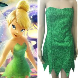 Wholesale Tinker Bell Free Shipping - 2017 Spot Luxurious Green Fairy Fairy Tinker Bell Princess Halloween Costume Costume for Christmas Costumes, Free Shipping
