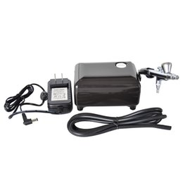 Wholesale Compressor Airbrush - Wholesale-High quality airbrush compressor kit portable airbrush make up 3 speeds adjustable tattoo airbrush for nail and cake