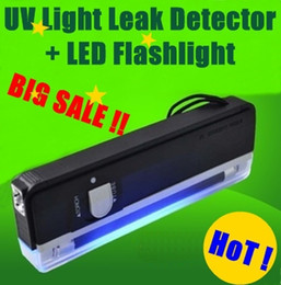 Wholesale Bank Notes - QUALITY GOODS Handheld UV Leak Detector For bank note   UV lamp test currency + White LED flashlight