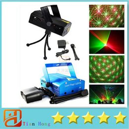 Wholesale Dhl Dj Laser - Laser Stage Lighting Free DHL Blue Mini 50pcs lot 150mW Mini Green&Red Laser DJ Party Stage Light Black Disco Dance Floor Lights