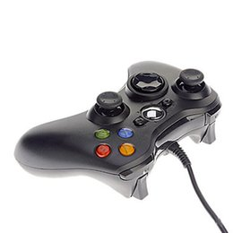 Wholesale Free Computers - Game Controller Xbox 360 Gamepad Black USB Wire PC XBOX360 Joypad Joystick XBOX360 Accessory For Laptop Computer PC For Free Shipping