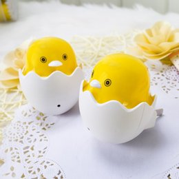 Wholesale Little Duck Yellow - Lovely LED Light Creative Plastic Little Yellow Duck Shape Night Lamp Safe Optical Control Lights High Quality 1 5sy B