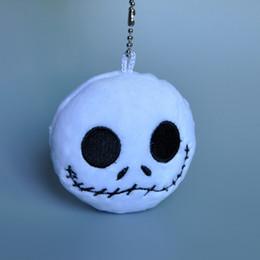 "Wholesale Soft Mini Dolls - Free Shipping Nightmare Before Christmas Jack Plush Doll Toys With Keychain Mini Soft Stuffed Dolls 3"""
