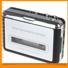 Wholesale Tape Cassette Dvd Converter - Portable USB Cassette Player Capture Cassette Recorder Converter Tape-to-MP3 Auto Reverse-Stereo-Hi-Fi-Mega Bass
