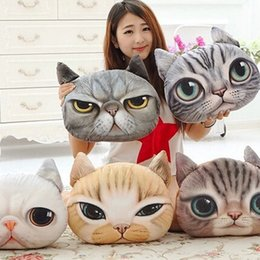 Wholesale Car Color Personality - HOT sale New Nordic Chair Pillow(40cm*38cm) Personality Car Cushion case Cover Creative Cat shape Nap pillow Cute seat cushion free shipping