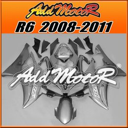 Wholesale Silver R6 Fairings - Addmotor Injection Mold Fairing For Yamaha YZF-R6 YZF R6 2008 2009 2010 2011 08 09 10 11 Silver Y6830 +5 Free Gifts